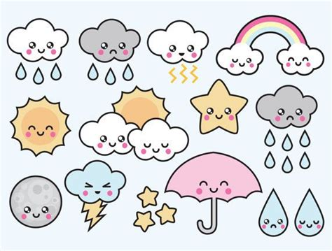 Kawaii Clipart by Stare Clipart Kawaii Pencil And In Color Stare Clipart