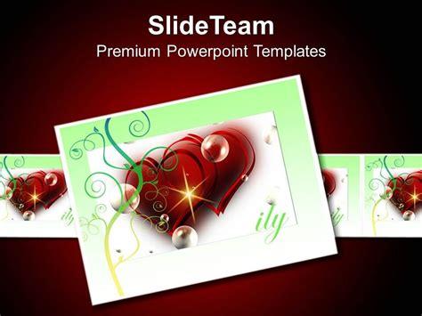 beautiful heart theme card  show love powerpoint