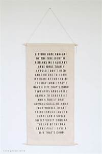 Canvas Scroll Wall Art - Love Grows Wild