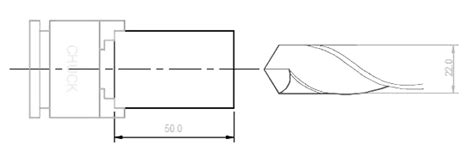 drilling brass 40mm deep using g74 drilling cycle cnc turning program helman cnc