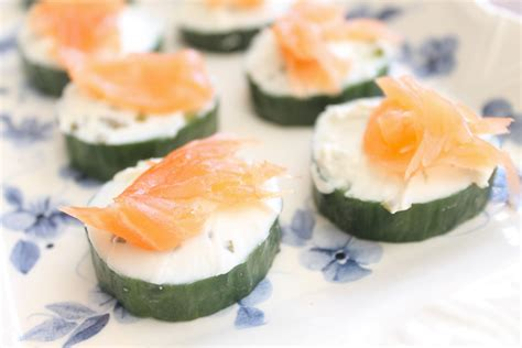 cucumber canapes easy canapes salmon cucumber and cheese