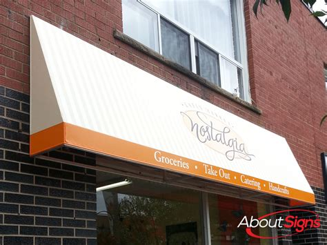storefront awnings commercial awning design  installation  toronto