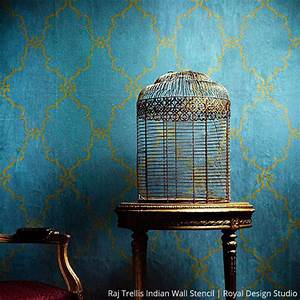 Once in a Blue Room with Stencils