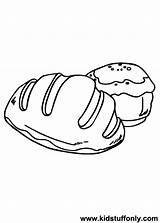 Bread Coloring Pages Drawing Slice Printable Getdrawings Colorings Getcolorings sketch template