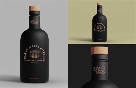 Free beer bottle mockup is now available. Black Matte Bottle Mockup — Medialoot