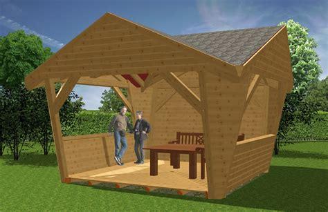 Dach Für Holzpavillon by Pavillion Aus Holz Garten Pavillions Bauen Novum Carport