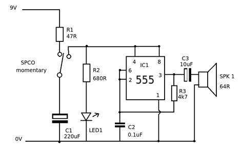 Simple Ray Gun Sound Buzzer Electrical