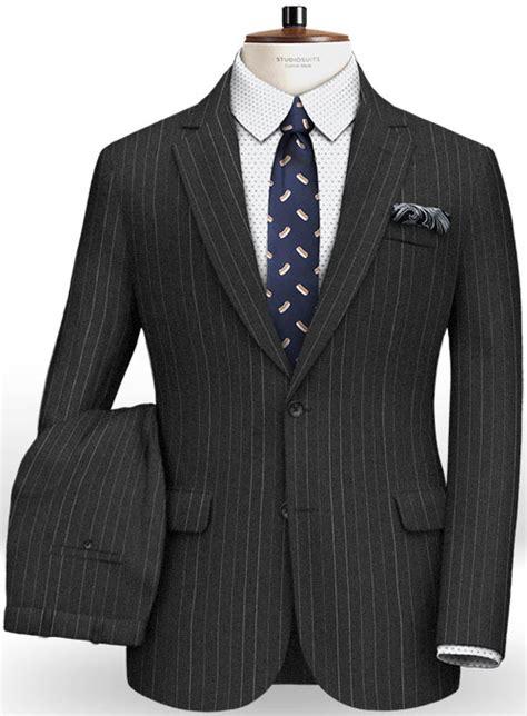 napolean chalk stripe charcoal wool suit studiosuits