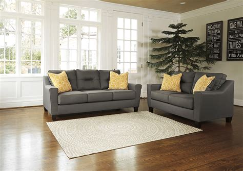 Grey And Loveseat by Squan Furniture Forsan Nuvella Gray Sofa And Loveseat