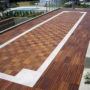 Outdoor wood deck tile wood flooring chicago home for Wood patio flooring