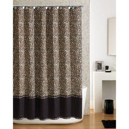 cheetah shower curtain hometrends cheetah shower curtain walmart