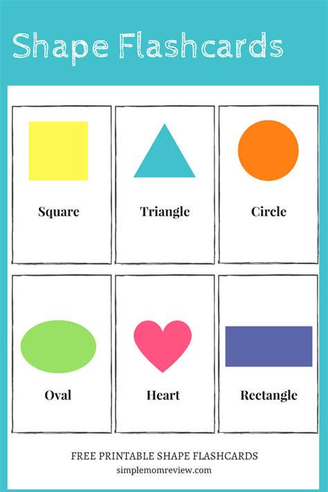 Free Printable Shapes  Simple Mom Review