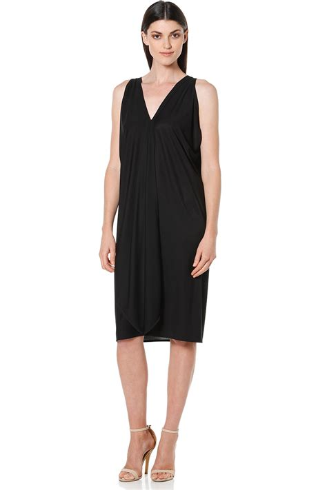 black drape dress new sacha womens knee length dresses column drape