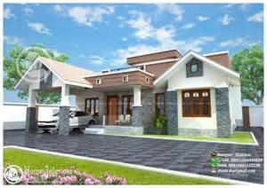 design houses pictures 1300 sq ft modern single floor home design