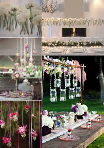 cool wedding ideas unique wedding flower ideas hanging centerpieces onewed