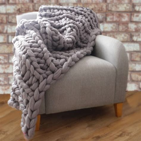 Bespoke Rugs by Yarnscombe Chunky Hand Knitted Throw By Lauren Aston