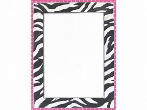 Free Printable Zebra Print Borders