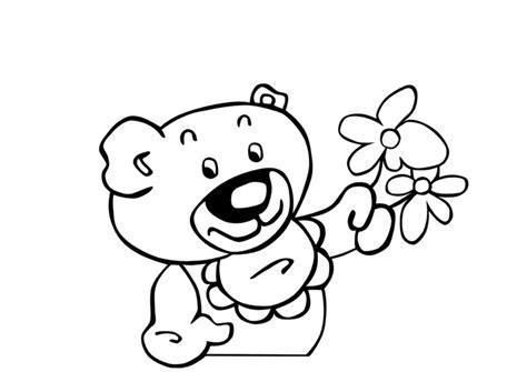 Kleurplaat Moederdag Teddybeer by Kleurplaat Teddybeer Met Bloemen Afb 13831