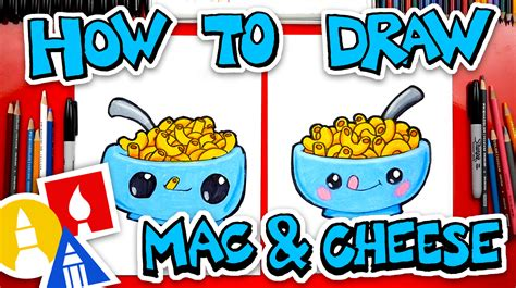 draw funny macaroni  cheese art  kids hub