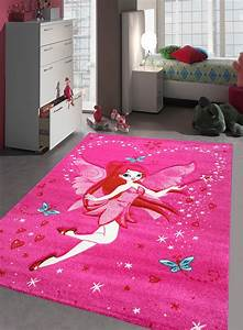 tapis chambre fille kids fee rose de la collection With tapis chambre de fille