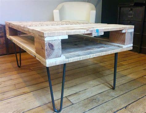 cuisine fabrication la table basse en bois de palette de géraldine diy