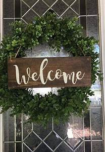 Hanging, Welcome, Sign, Front, Door, Decor, Wooden, Welcome, Porch