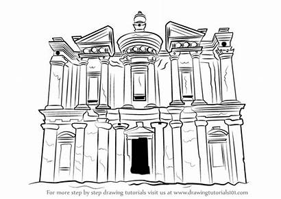 Step Monastery Draw Drawing Coloring Pages Deir