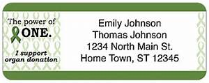 organ donation return address label With charity address labels