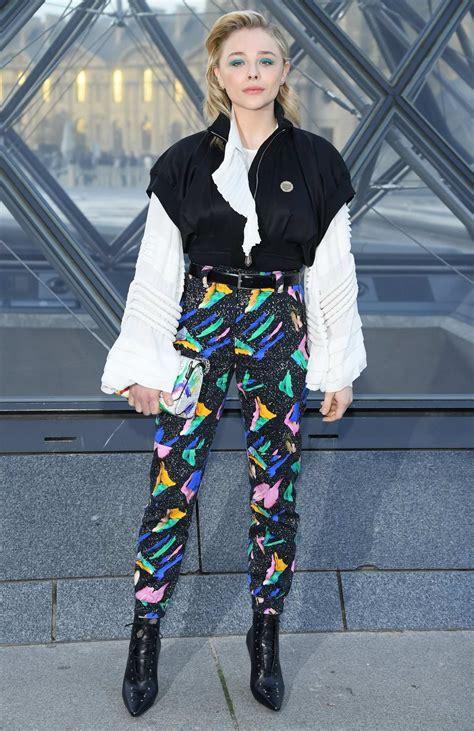 chloe grace moretz attends  louis vuitton show  paris fashion week      paris