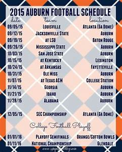 2015 Auburn Football Schedule Freebie - Simply Elliott