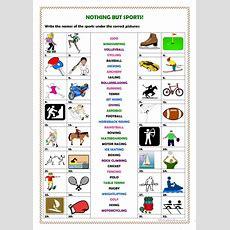 Nothing But Sports! Worksheet  Free Esl Printable Worksheets Made By Teachers