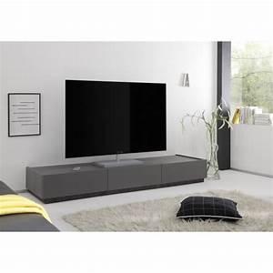 Tv Lowboard : livia grey matt lacquered tv lowboard with drawers tv stands 1831 sena home furniture ~ Watch28wear.com Haus und Dekorationen