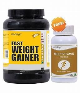 Medisys Fast Weight Gainer Free Multivitamin  1 5 Kg Weight Gainer Powder  Buy Medisys Fast