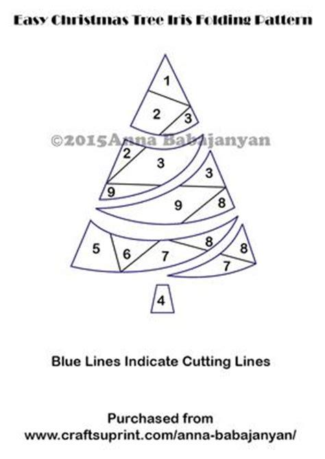 easy christmas tree iris folding pattern cup