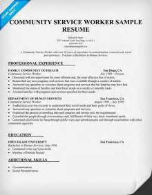 resume template for community service community service worker resume sle http resumecompanion resumes