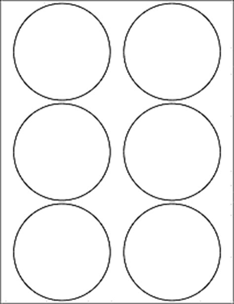Psd Template 6 Circles 3 Inch Diameter Label Templates Ol1715 3 5 Quot Circle Labels
