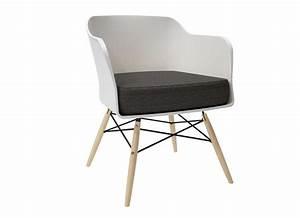 Coussin Pour Chaise Scandinave : chaise scandinave avec coussin alwa blanc chaises ~ Dailycaller-alerts.com Idées de Décoration