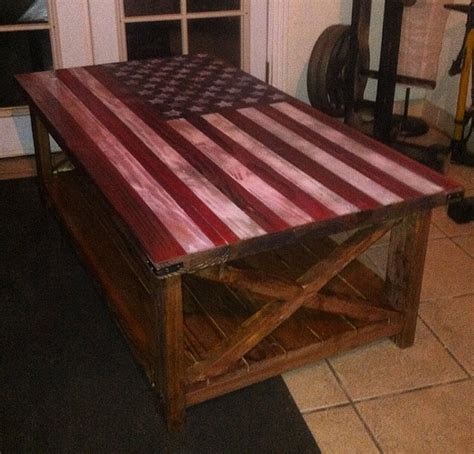 A coffee table usually sits opposite a sofa and so has two competing requirements. Ana White | American flag rustic coffee table - DIY Projects