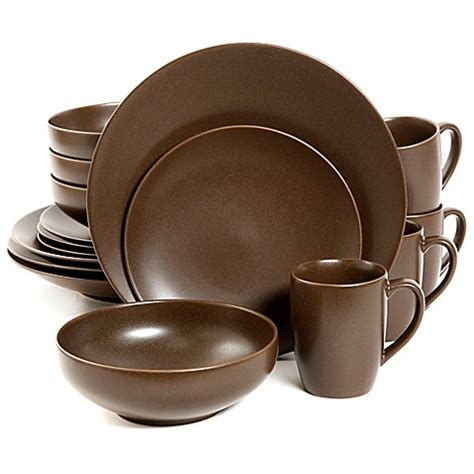 formal dining room gibson paradiso 16 dinnerware set in brown
