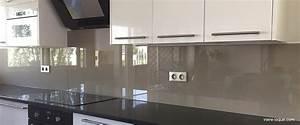 Crédence Cuisine En Verre : cr dence en verre laqu pour votre cuisine verre ~ Nature-et-papiers.com Idées de Décoration