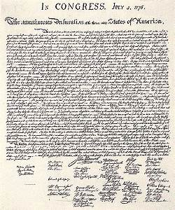 the declaration of independence With important documents of american history