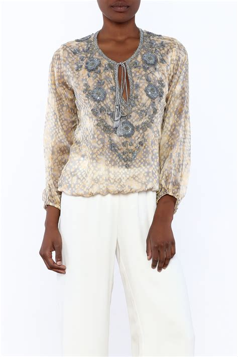 taj by sabrina crippa silk printed blouse from new hshire by let s glow shoptiques
