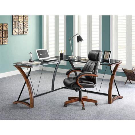 glass desk with storage whalen glass and cherry desk with storage jcs110605 d