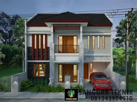 gambar desain rumah semi bali modern    meter