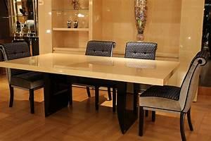 Table Salle à Manger : table salle manger table haute table de repas de luxe ~ Teatrodelosmanantiales.com Idées de Décoration