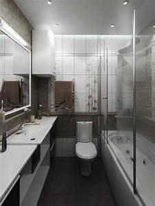 47 idees d39amenagement d39une petite salle de bain nos With amenagement salle de bain en longueur