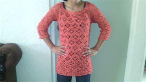 Como hacer una blusa de manga 3/4 en crochet paso a paso