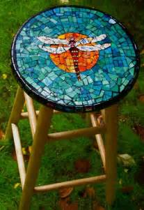 Dragonflies Mosaic Table Top
