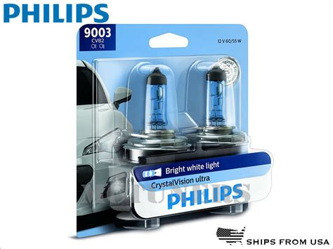 new 2x philips vision ultra headlights 9003cvb2 h4