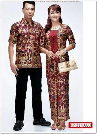 trend fasion model baju batik  pesta pernikahan